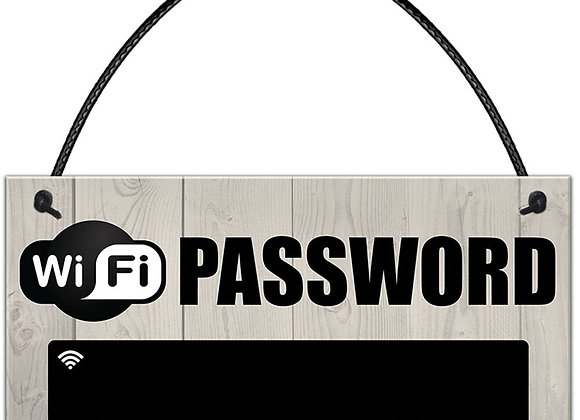 1Pcs Wooden WiFi Password Sign Chalkboard Hanging Plaques