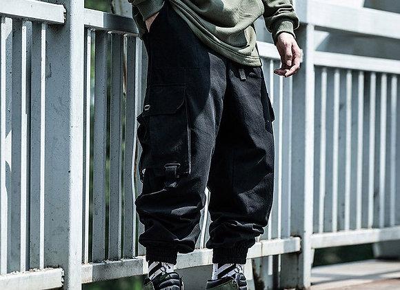 Black Cargo Pants Harem Pant Streetwear Harajuku