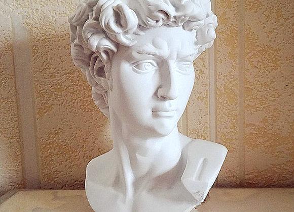 David Head Bust Gypsum Statue Michelangelo Buonarroti Sculpture