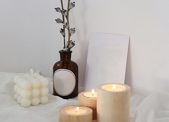 Wood Candle Holders for Home Decor