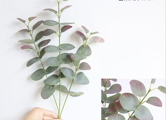 1 Bunch 3 Forks Eucalyptus Leaves Artificial Plants Vases for Home Decor