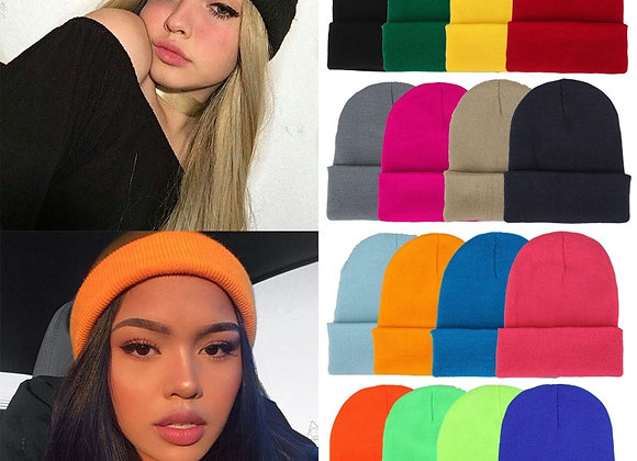 Winter Hats  Beanies Knitted Solid