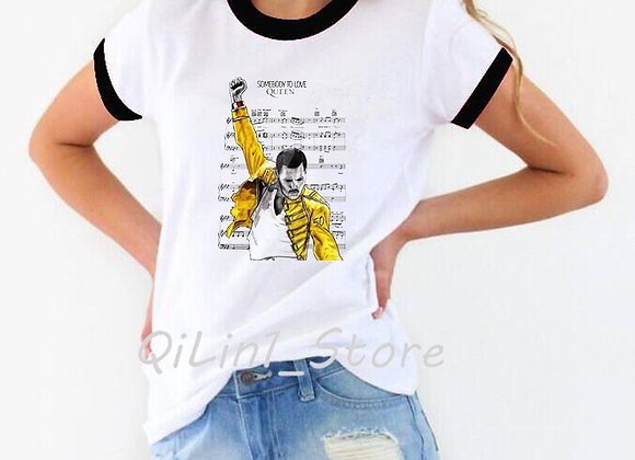 Freddie Mercury the Queen Band T Shirt Women