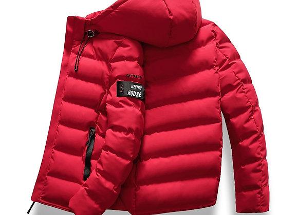Winter Jacket Coat Hooded Warm Mens