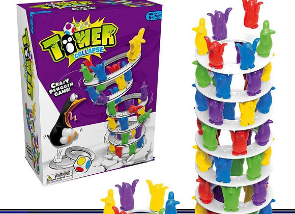 Penguin Tower Collapse Balance Game