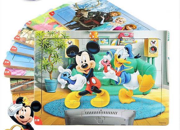 Disney 30 Piece Princess Wooden Box Puzzle Early Education Children