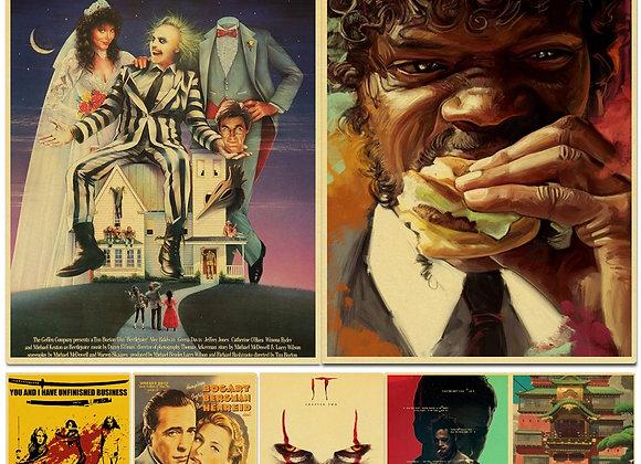 Movie Poster Kill Bill/Fight Club/the BeetleJuice Retro Kraft Poster