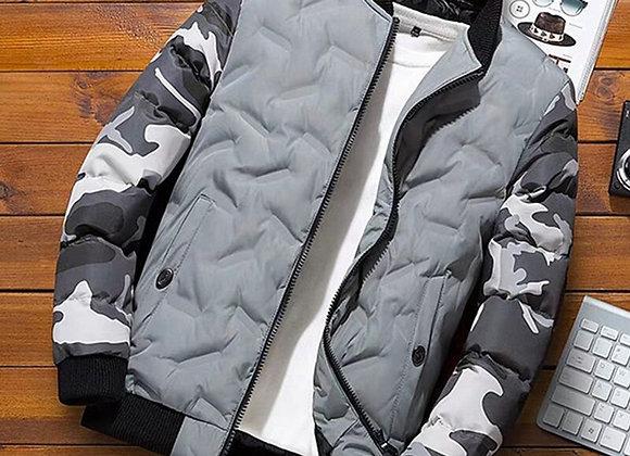 Winter Baseball Jacket Camouflage Patchwork Cotton Coats
