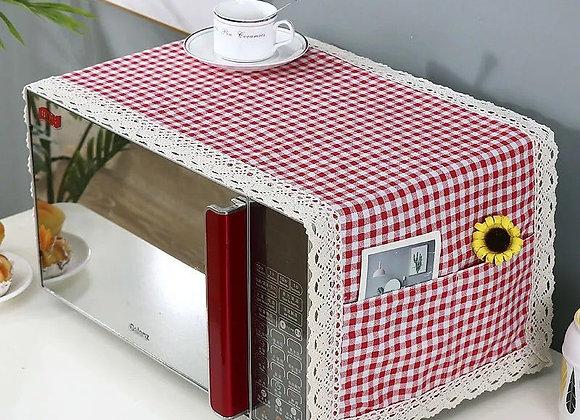 Kitchen Microwave Cover Cotton Linen