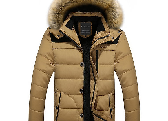 2020 Fur Collar Hooded Men Winter Jacket