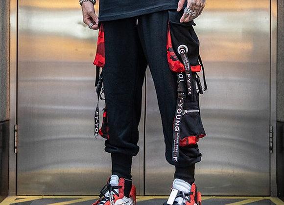 Streetwear Multiple Pockets Mens Joggers Pants Trousers