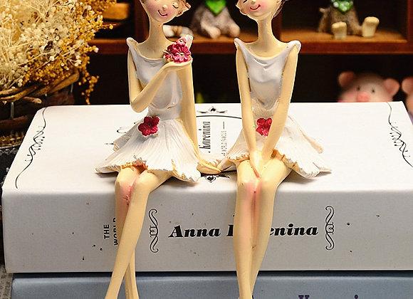 2pcs/Set Beautiful Angel Resin Craft Fairy Figurines