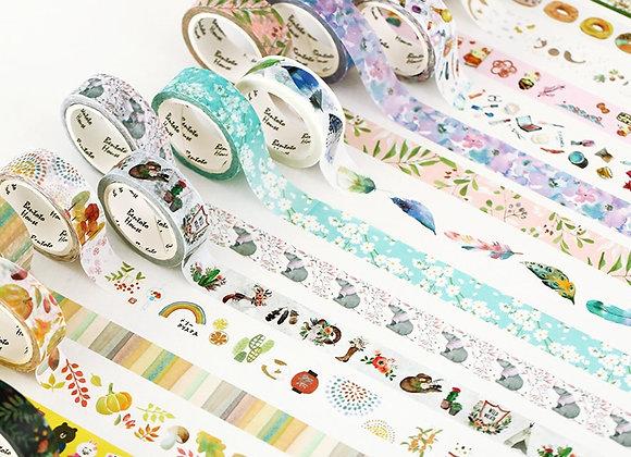 25 Colorful Washi Tape Decorative Masking Tape for DIY Craft