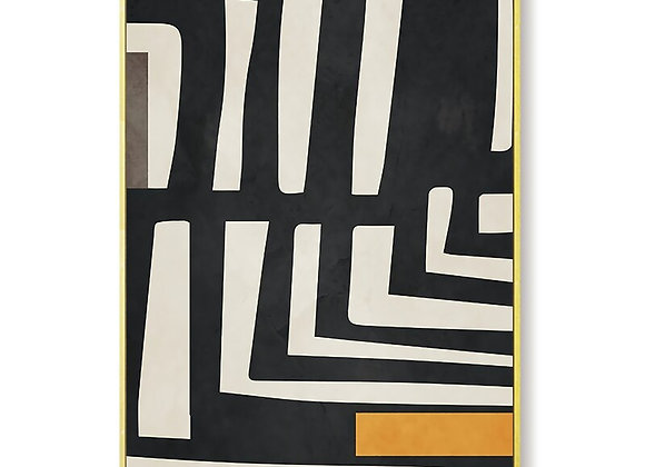 Geometric Abstract Girl Minimalist Wall Art Canvas