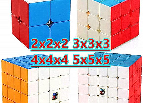 Moyu Meilong 3x3x3 Magic Cube Strickerless 4x4x4 Cubo Magico 5x5x5