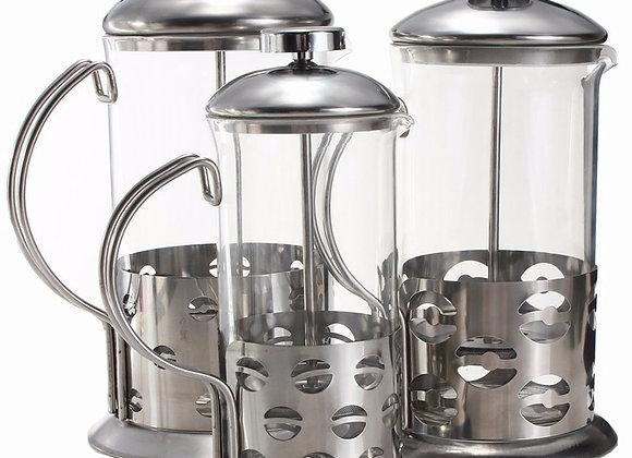 Manual Coffee Espresso Maker Pot Stainless Steel Glass Teapot