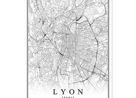 France City Map, (Paris Lyon Marseille Montpellier Nice Strasbourg Toulouse)