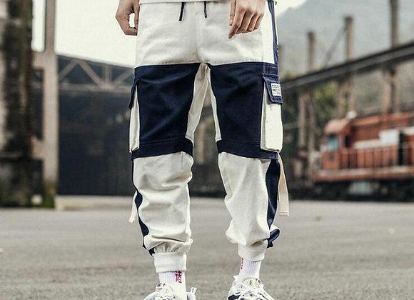 Ribbons Harem Joggers Men Cargo Pants Streetwear