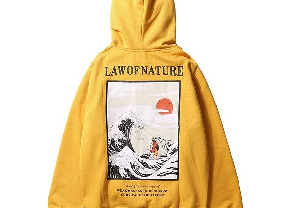 GONTHWID Japanese Embroidery Hoodies Casual Sweatshirts Streetwear