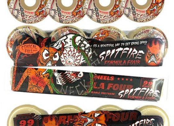 Original Spitfire Skateboard Wheels 52mm 101duro 53mm 54mm 99duro