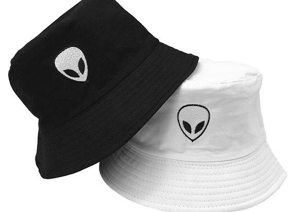 Unisex Embroidered Alien Foldable Bucket Hat
