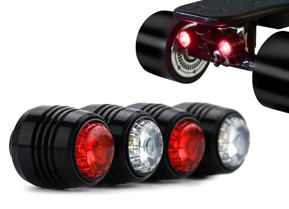 4Pcs Skateboard LED Lights Night Warning Safety Lights