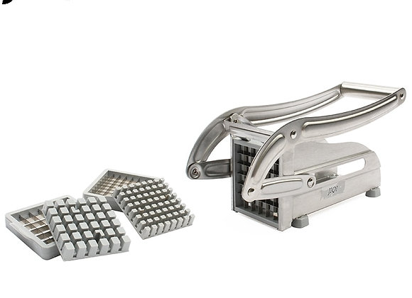 JIQI Stainless Steel French Fry Potato Strip Cutter