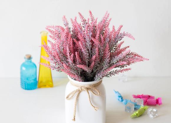1 Bundle Romantic Provence Lavender Vase for Home Decor Artificial Flowers
