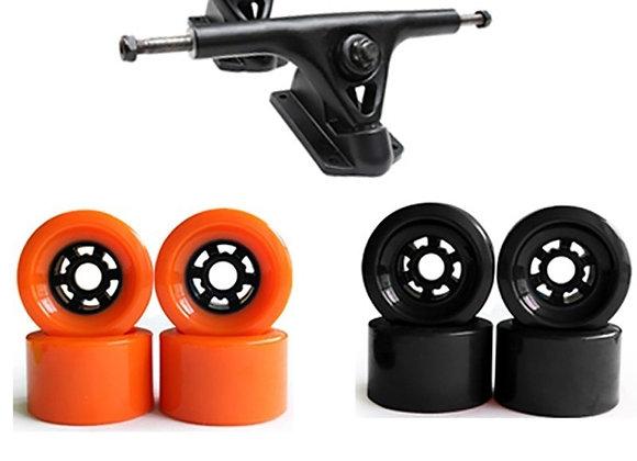 "83mm Soft Skateboard Wheels With Truck Set 7.25"""
