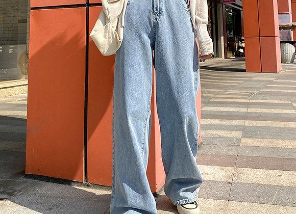 Woman Jeans High Waist Clothes Wide Leg Denim Clothing