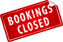 Booking calendar is closed, sorry