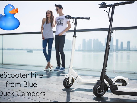 Hire an eScooter from Blue Duck Campers