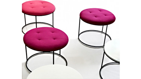 TRIO TABLES WITH FABRIC