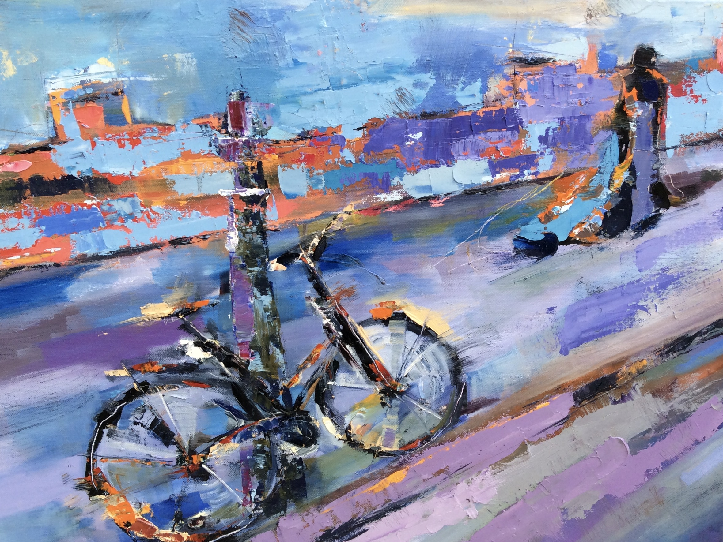 Lady and a Bicycle