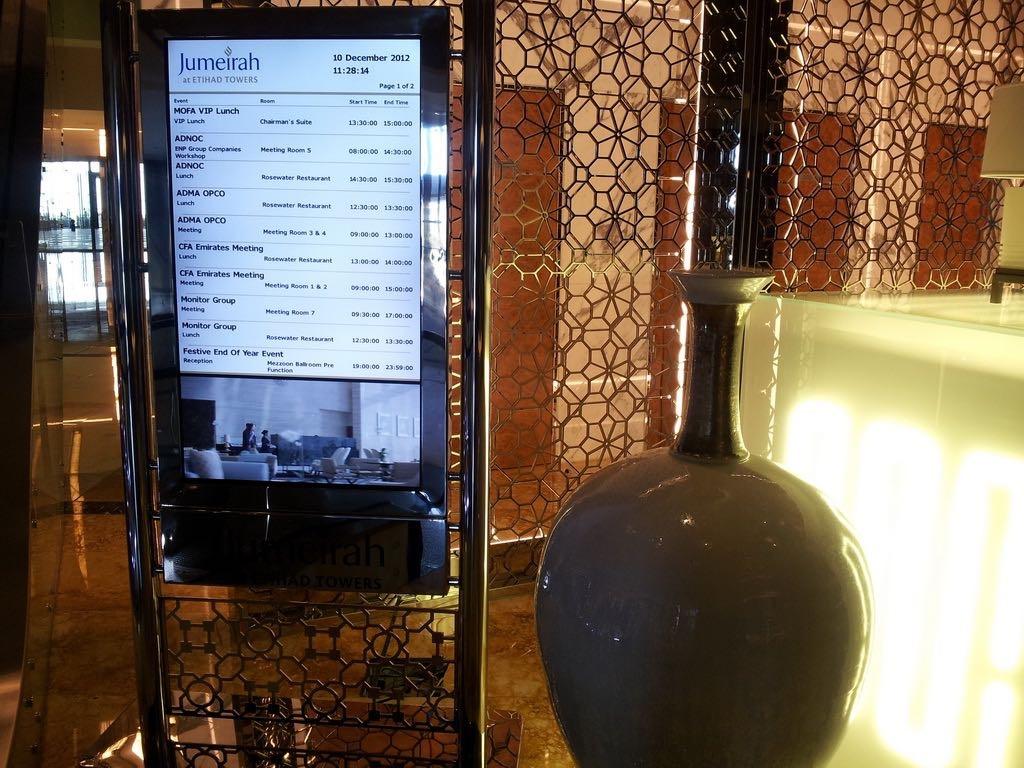 Etihad Towers Hotel Digital Signage