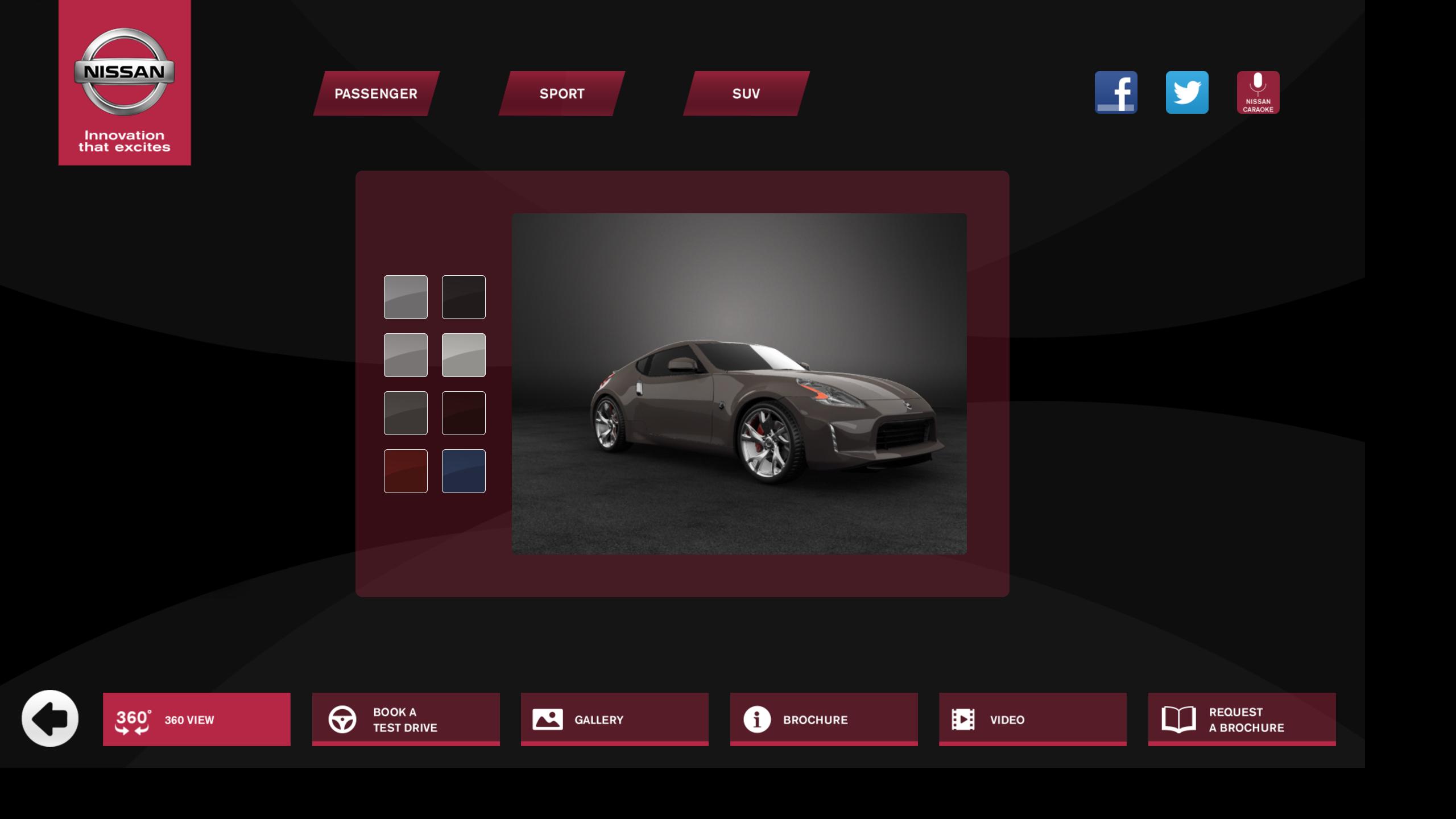 Nissan interactive Kiosks