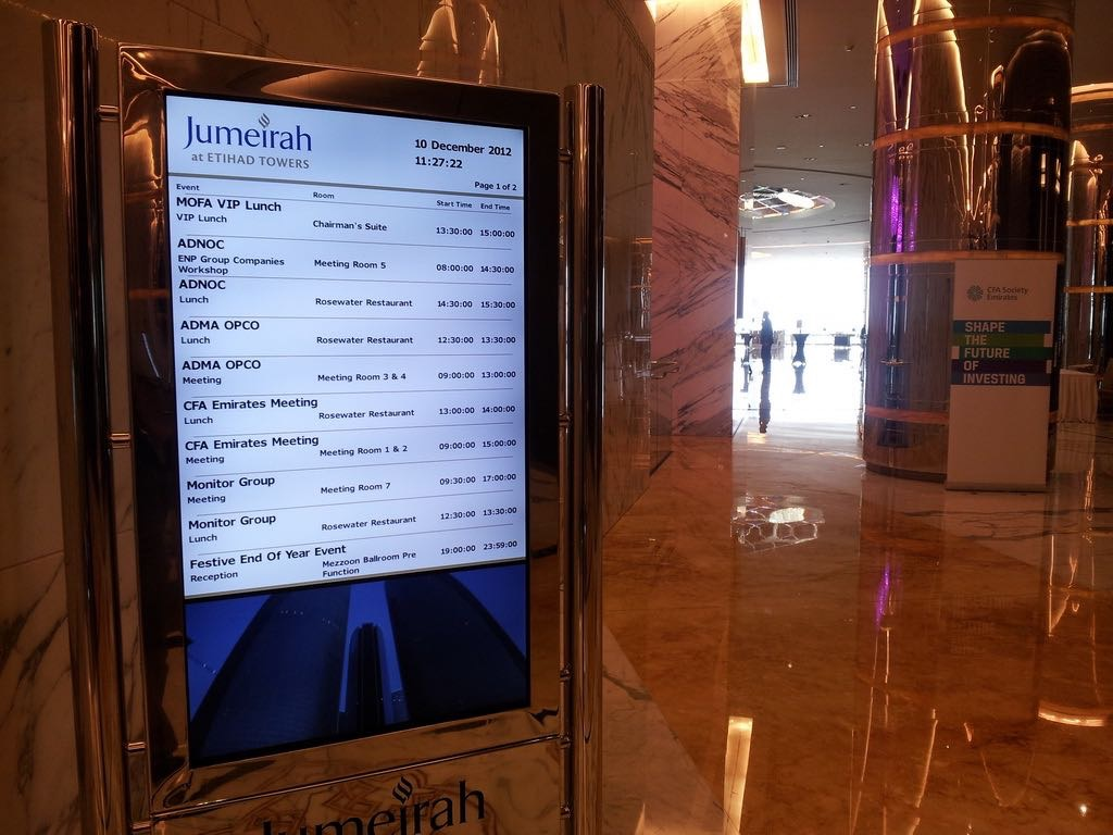Etihad Towers Wayfinding Kiosks
