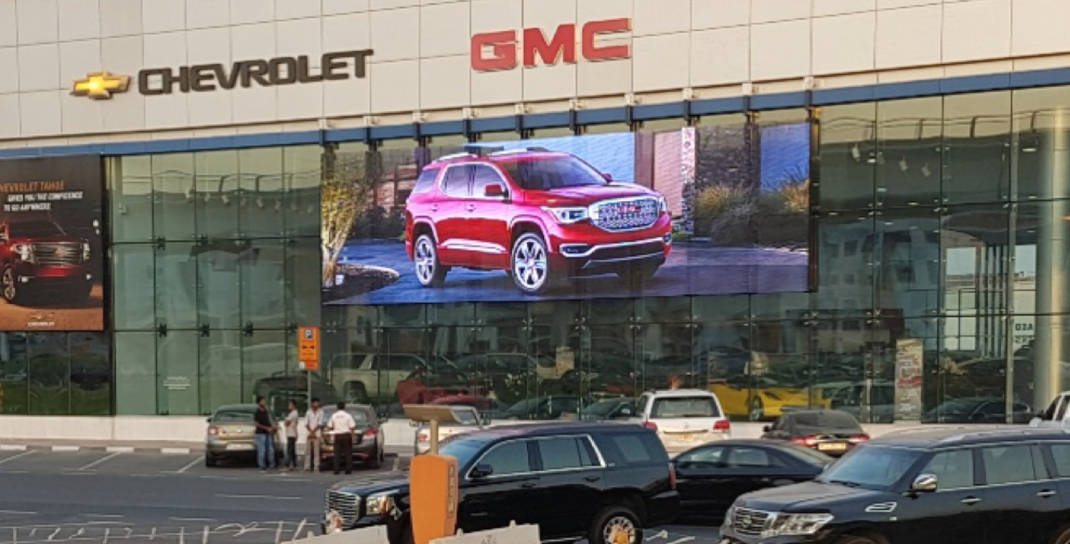 GMC showroom Transparent LED