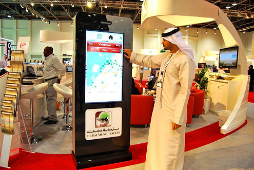imprssive digital ignage content created by aimsuae for Qualcomm stand in Gitex