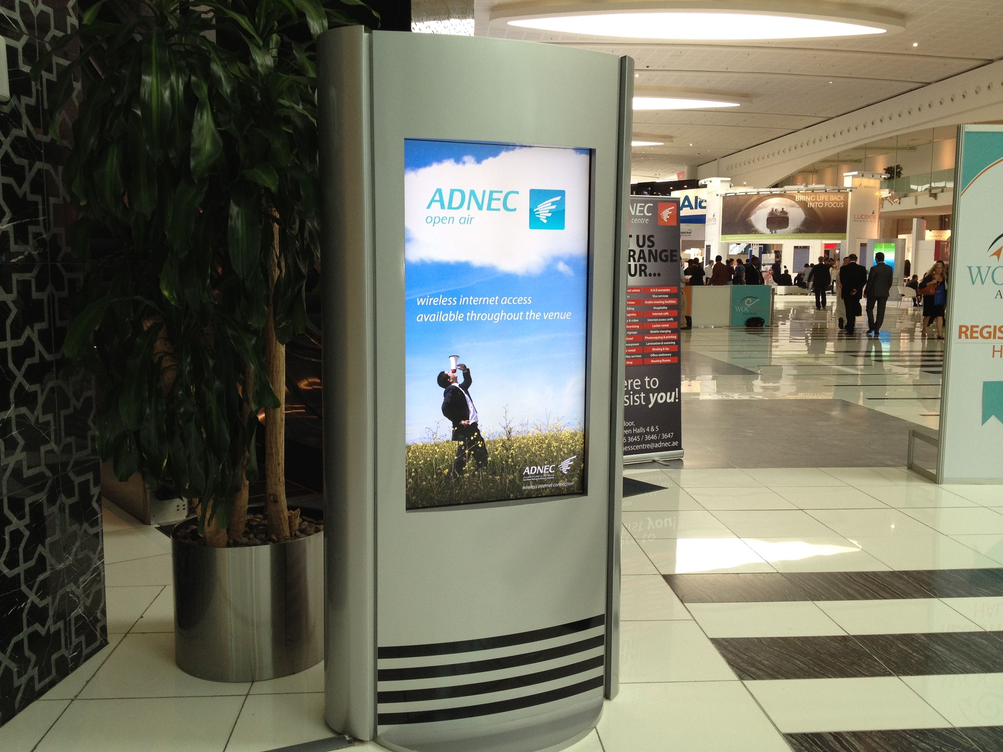 ADNEC Display Kiosks