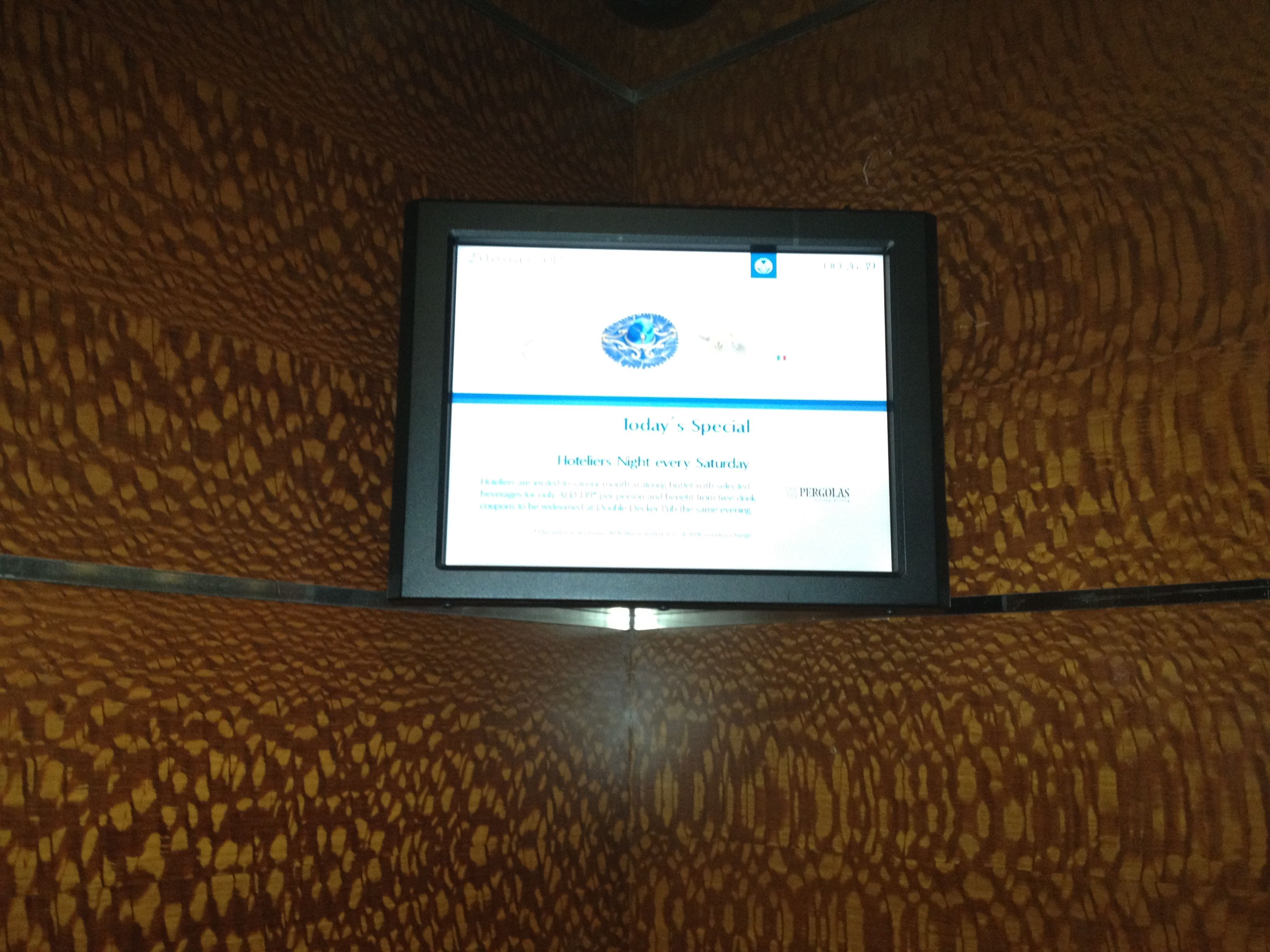 Rotana Hotel Elevator Signage