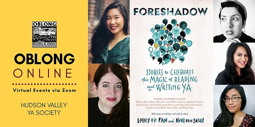 Hudson Valley YA Book Society, book tour for FORESHADOW