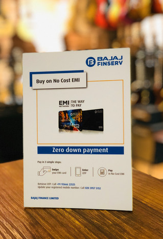 EMI options from Bajaj Finserv now available with us We have made it easier for you to get the gear