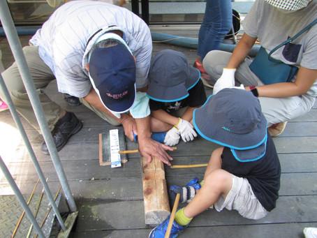 9月5日(日)森遊び「竹テッポウ作り」を行いました。
