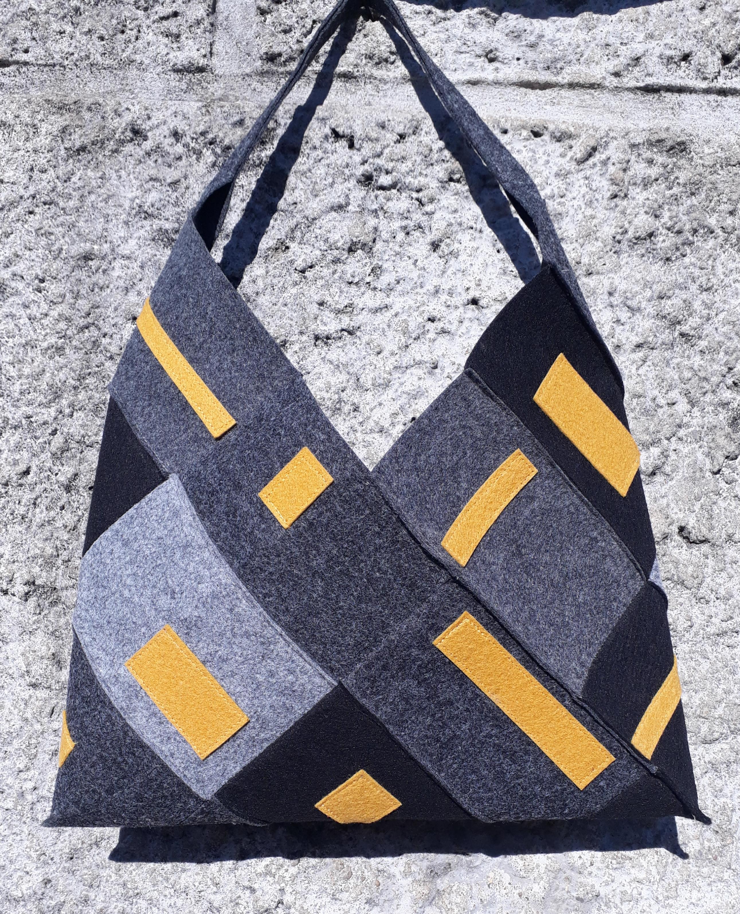 Origami patchwork bag