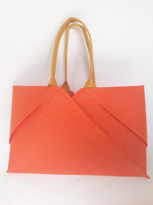 Orange Origami bag