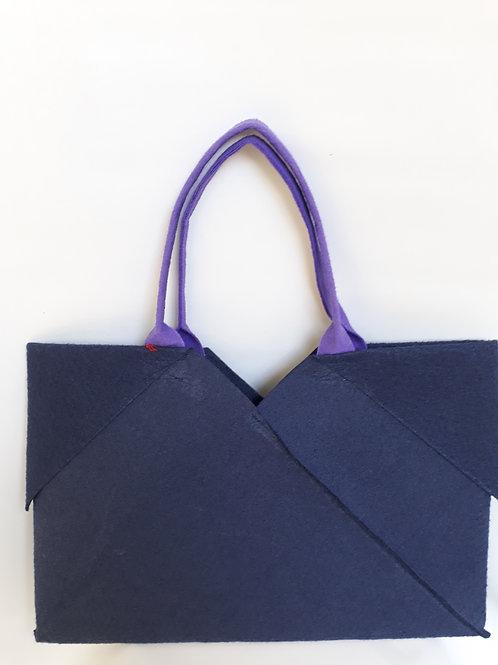 Navy Blue Origami bag