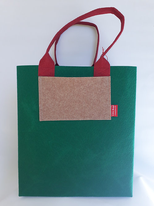 Bottle Green Market Bag