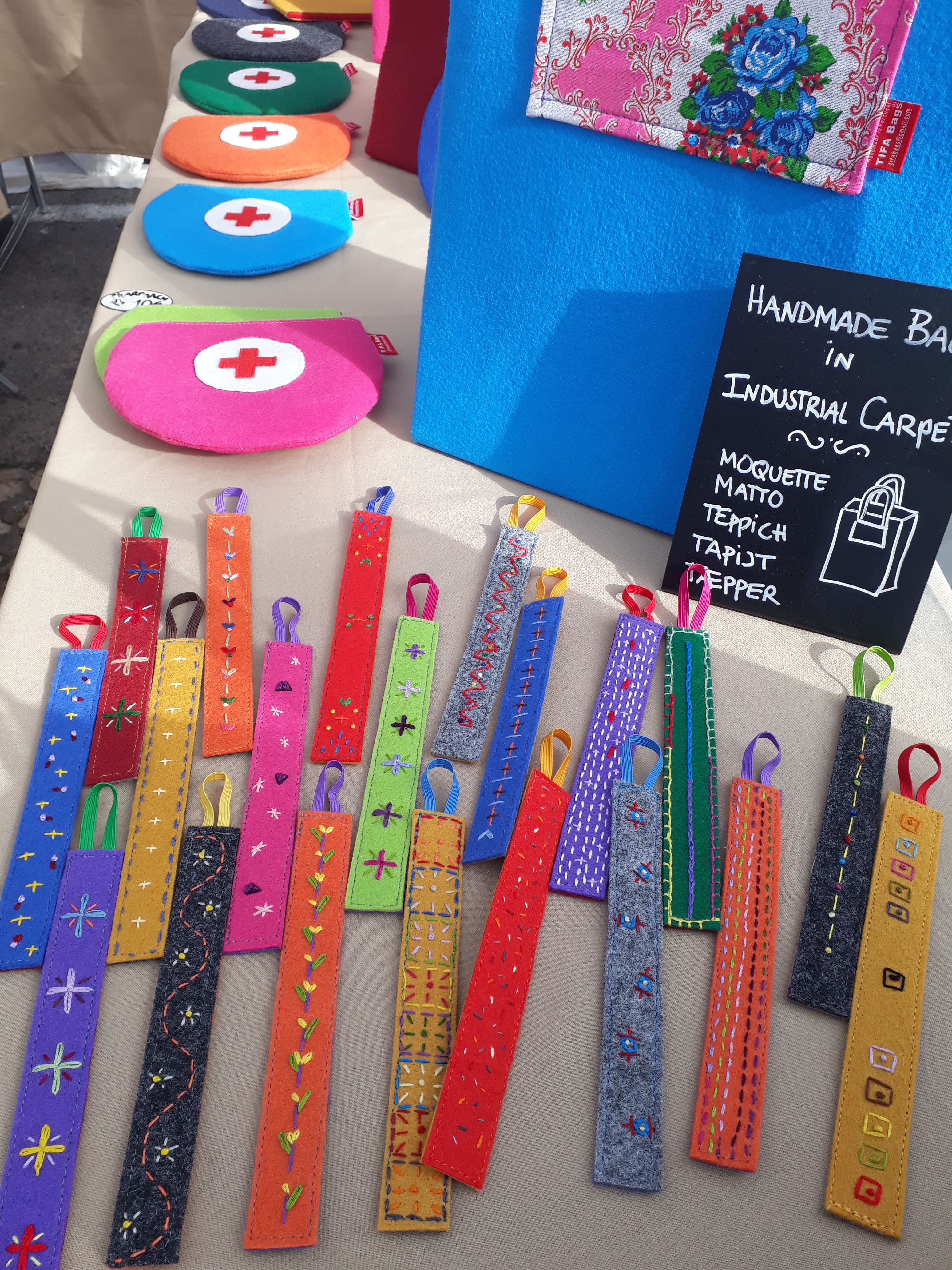 Market stand showing bookmarkers
