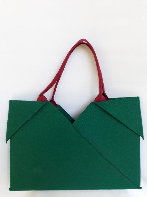 Bottle Green Origami bag